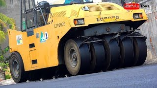 Road RollerVideos for Children - Excavator and Dump TruckWorking ♫ Song for Kids to Dance