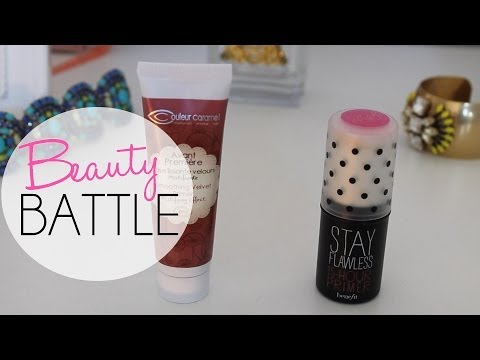La beauty battle de By Reo, le Stay Flawless de Benefit vs la Base Lissante de Couleur Caramel