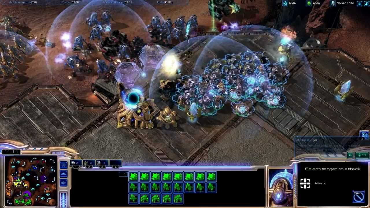 Starcraft 2 Online Gameplay - First Person 4v4 - EPIC ...