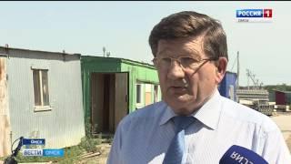 Ход строительства социально-значимых объектов сегодня проконтролировал мэр Омска