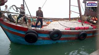 Tàu Đánh Bắt Hàng Tấn Cá Cơm Nghiêng Vì Nặng Tại Cảng Cá Nghệ An