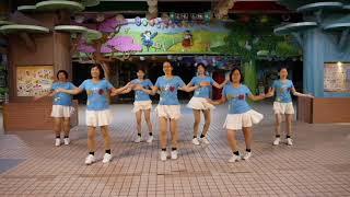 擺動凍結Wiggle Freeze Line Dance (Improver) Demo & Count (六福排舞隊)