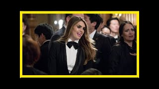 White house's hope hicks wore a tuxedo to japan state dinner