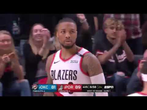 Oklahoma City Thunder vs Portland Trailblazers | April 14, 2019