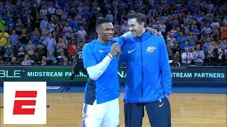 Before Nick Collison retired, Russell Westbrook made sure fans honored him at final home game   ESPN