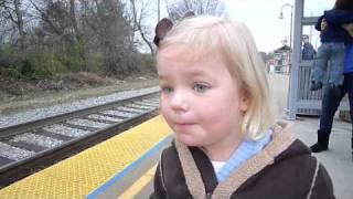 Reação ao ver o trem pela primeira vez