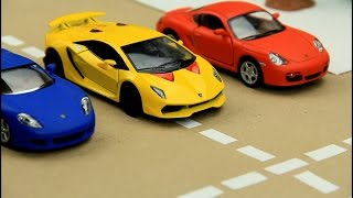 Kids video about Race Cars & Sports Car Race in the City for children