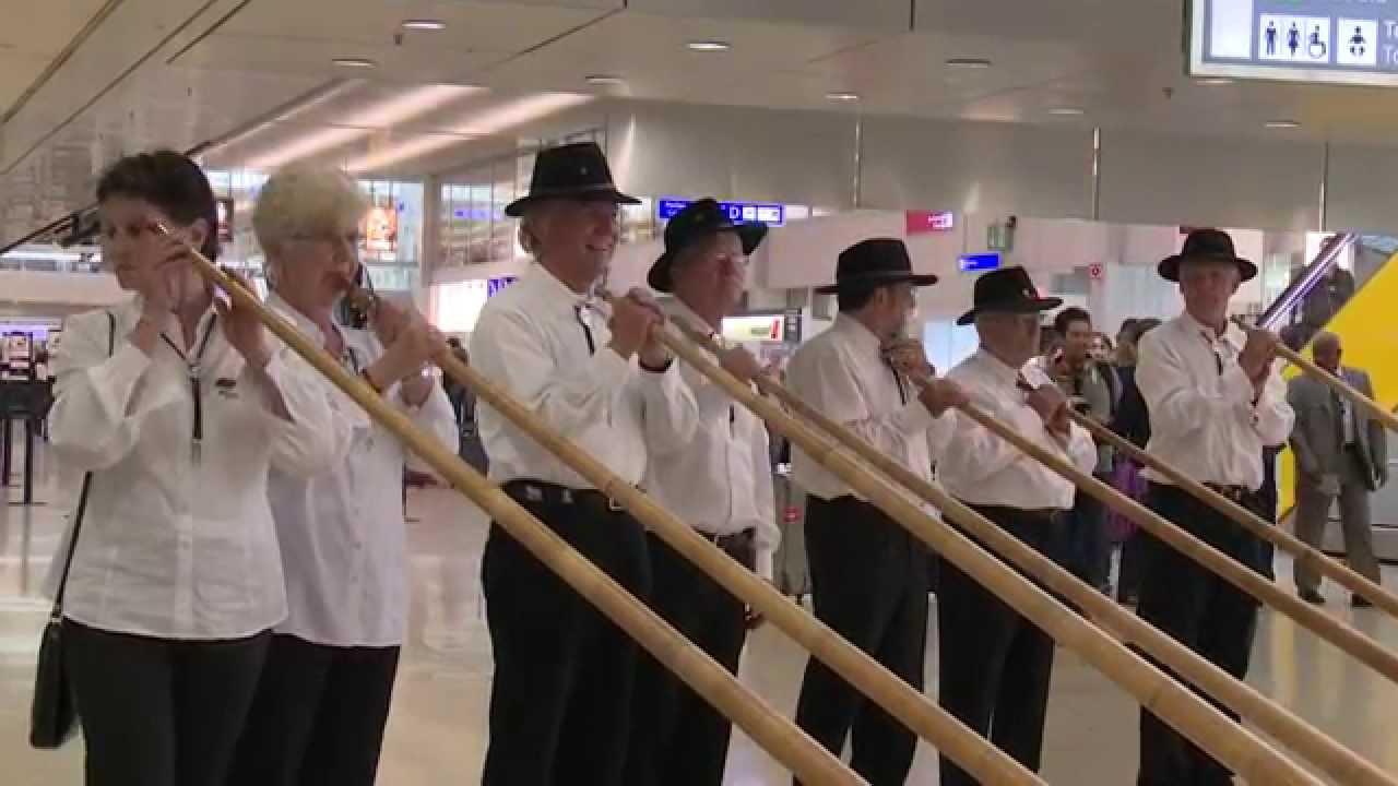 Flashmob à l'aéroport de Genève
