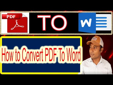 How to Convert PDF To Word | PDF To Word Converter | PDF Edit, Technical Azad