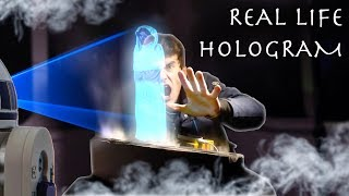 How To Make an INTERACTIVE HOLOGRAM! (Cheap Easy DIY Build)