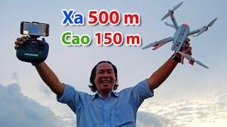 Bugs 3 Pro - Test bay xa tối đa 500 m - Bay cao 150 m - Hình ảnh Wifi vẫn mượt mà