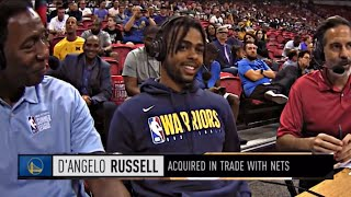 "D'Angelo Russell explains why he joined GSW & How he fits with Steph Curry!  ""I want to win"""