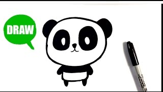 How to Draw a Panda - Chibi - Easy Pictures to Draw