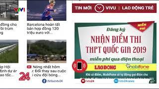 Tra cứu điểm thi THPT Quốc gia miễn phí với tổng đài thông minh   VTV24