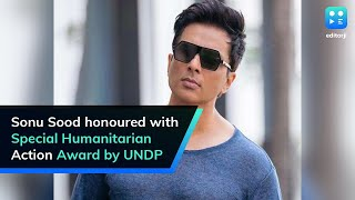 Sonu Sood honoured with special award by UNDP..