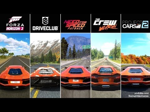 Forza Horizon 3 Vs DriveClub The Crew Project CARS 2