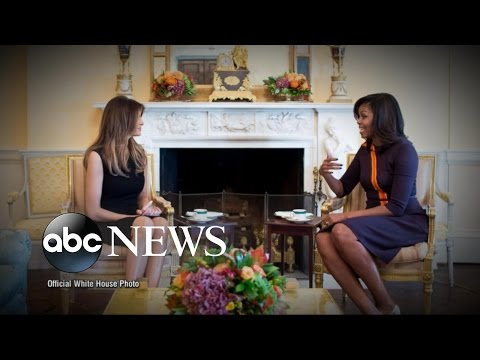 Michelle Obama Welcomes Melania Trump to White House