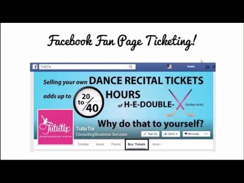 Tutu Tip: Sell Tickets Through Your Facebook Page