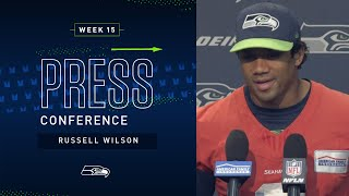 Quarterback Russell Wilson Week 15 Press Conference | Seahawks 2019