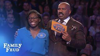 Dee's got her eye on Fast Money! | Family Feud