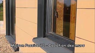Maison passive 71 - Isolation des murs