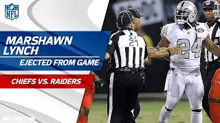 Marshawn Lynch Ejected for Unsportsmanlike Conduct w/ Official | Chiefs vs. Raiders | NFL Wk 7