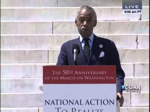 Rev. Al Sharpton at 50th Anniversary of March on Washington ...