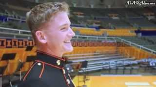 U.S Marine comes home and surprises his brother