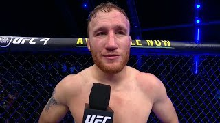 UFC 254: Justin Gaethje Octagon Interview