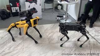 IROS2018: Laikago( Unitree Robotics ) meeting  spotmini( Boston Dynamics )