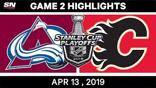 NHL Highlights | Avalanche vs Flames, Game 2 – Apr 13, 2019