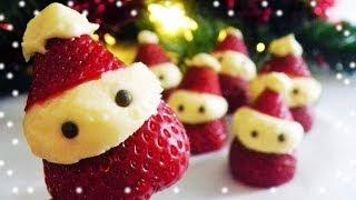 ❄(No-Bake) Strawberry Cheesecake Santas ❄