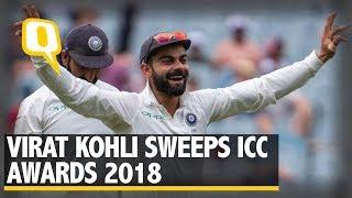Virat Kohli Sweeps ICC Awards 2018   The Quint