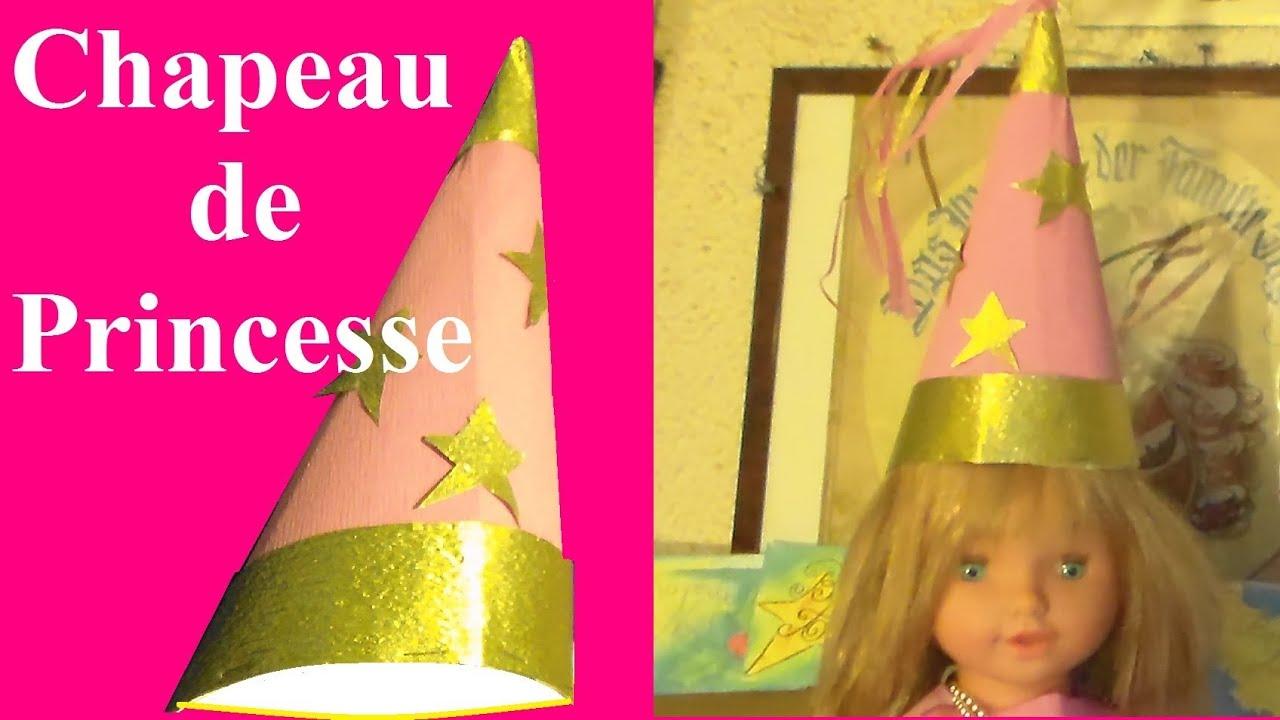 fabriquer un chapeau de princesse bricolage pour anniversaire et f te youtube. Black Bedroom Furniture Sets. Home Design Ideas