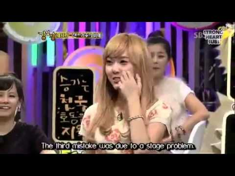 SNSD Jessica talk about her dance Mistakes @ Strong Heart