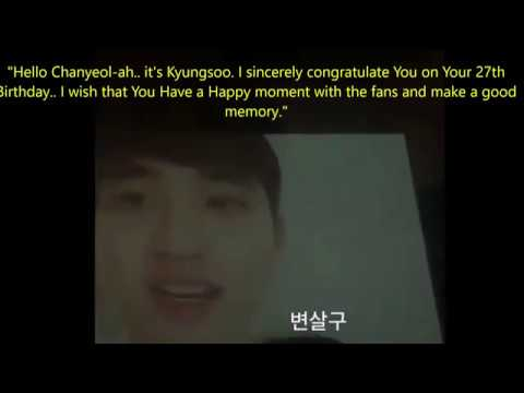 181127 EXO Message for Chanyeol Birthday Party (ENG SUB)