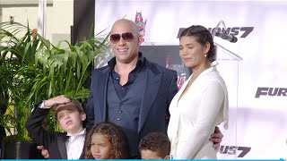 Vin Diesel, family, girlfriend, kids, Chinese Theater, Hand & Footprint, Furious 7, Fast and Furious