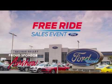Salinas Valley Ford - Fusion Sign & Go offer - Free Ride Event