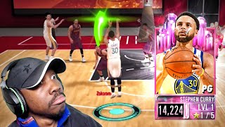 PINK DIAMOND CURRY IS 3-POINT SHOOTING GLITCH! NBA 2K Mobile Season 2 Gameplay Ep. 40
