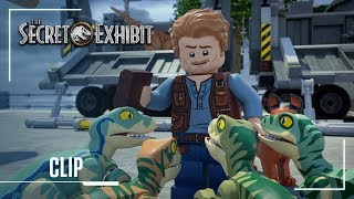 LEGO Jurassic World: Secret Exhibit | Clip: Owen Owen Meets Blue For the First Time | Jurassic World