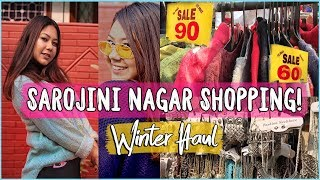 WINTER Shopping in SAROJINI NAGAR | TryOn HAUL Sweaters at Rs.90 |ThatQuirkyMiss