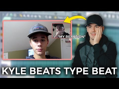 HE MADE A KYLE BEATS TYPE BEAT! (My Reaction) - How to make a beat Like Kyle Beats FL Studio 12