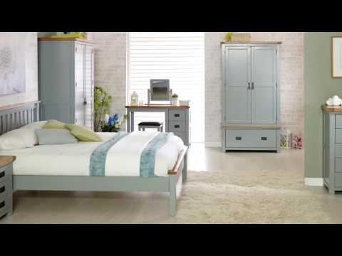 New Hampshire 2 Door Wardrobe - Grey & Oak
