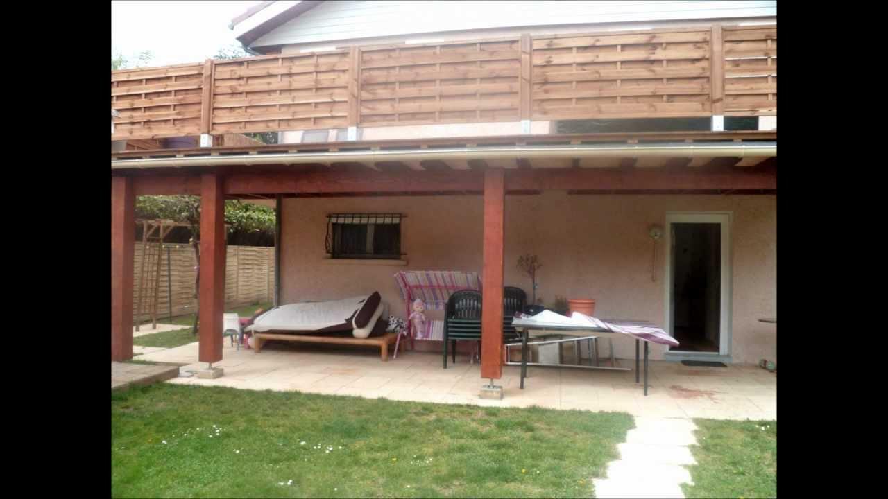 construction terrasse surelev e avec pose d une terrasse en bois ip youtube. Black Bedroom Furniture Sets. Home Design Ideas