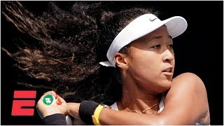 Naomi Osaka throws racket, overcomes mid-match frustration for win | 2020 Australian Open Highlights