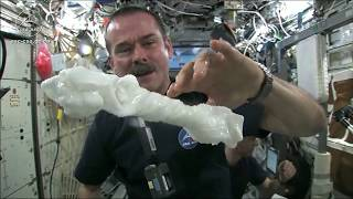 Wringing out a Water Soaked Washcloth in Space  Zero Gravity