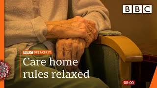 Covid-19: England care home residents to get one visitor each 🔴 @BBC News live - BBC
