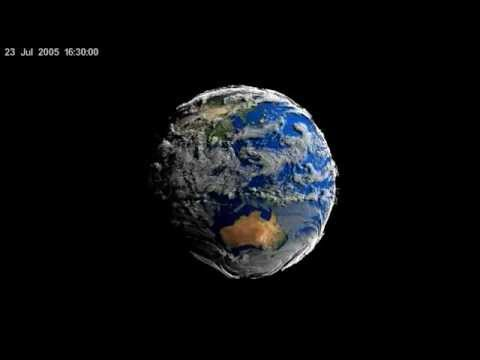 Volume-Rendered Global Atmospheric Model