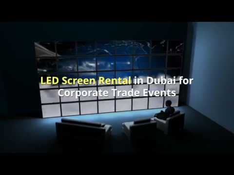 LED Screen Rental in Dubai for corporate trade events ...