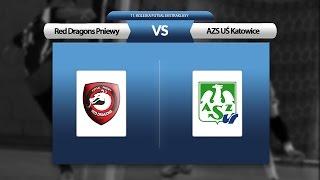 11. kolejka: Red Dragons Pniewy - AZS UŚ Katowice (skrót)